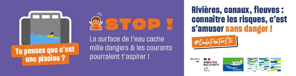 Voies Navigables de France lance sa campagne CoulePasTonEté