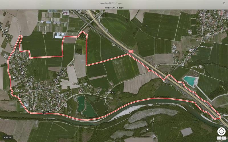Balade Thil les Tuileries 10 km