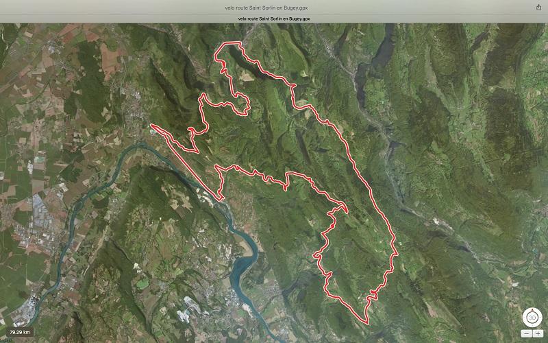 Balade vélo Saint Sorlin en Bugey – 79 km
